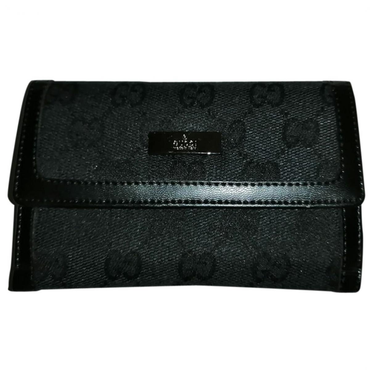 Gucci - Portefeuille   pour femme en toile - noir