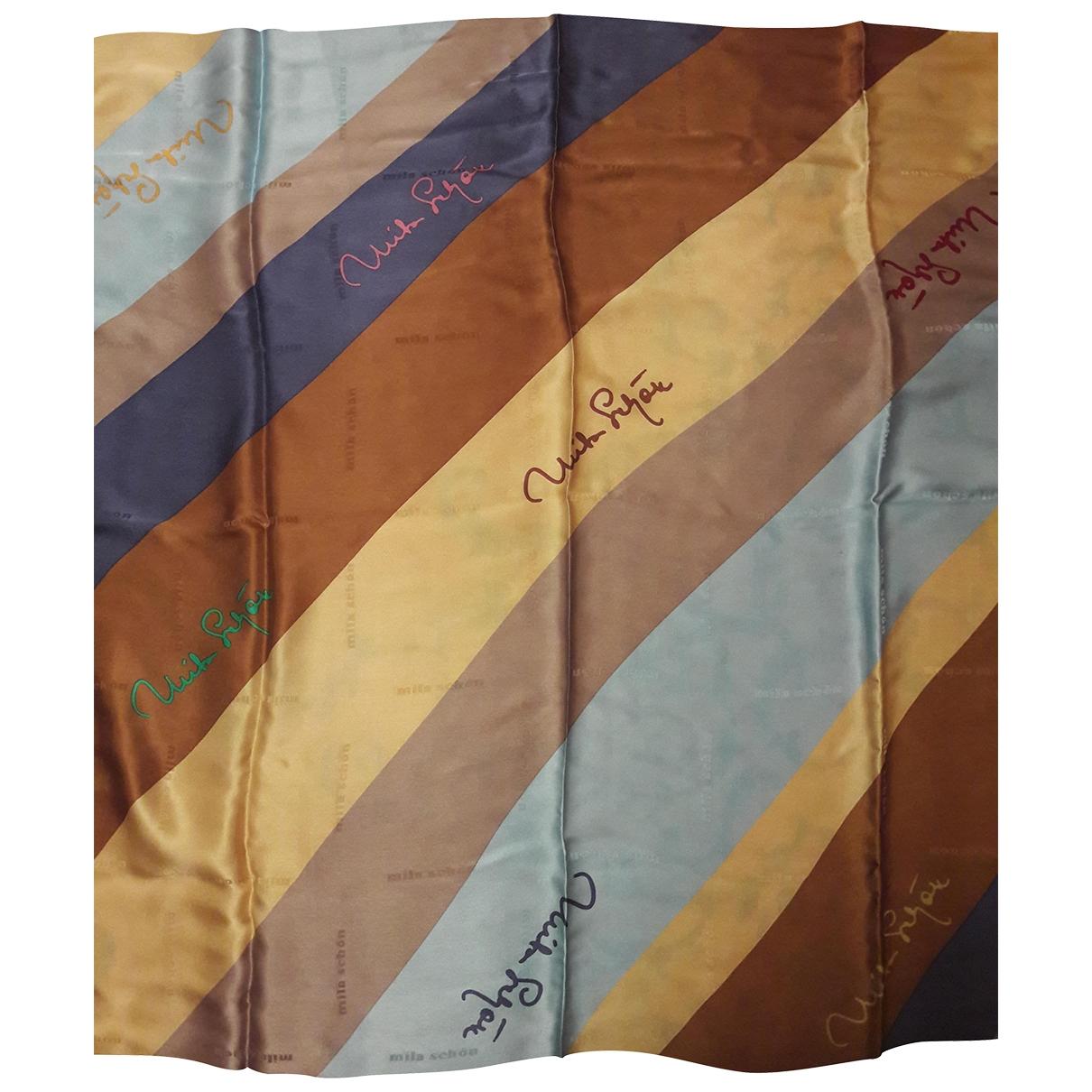 Mila Schon Concept - Foulard   pour femme en soie - bleu