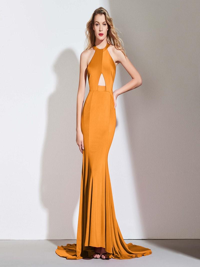 Ericdress Halter Backless Mermaid Prom Dress