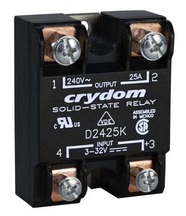 Sensata / Crydom 10 Arms Solid State Relay, Zero Crossing, Panel Mount, SCR, 280 V dc Maximum Load