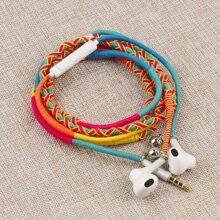 1pc Handmade Rope in-ear Headphone