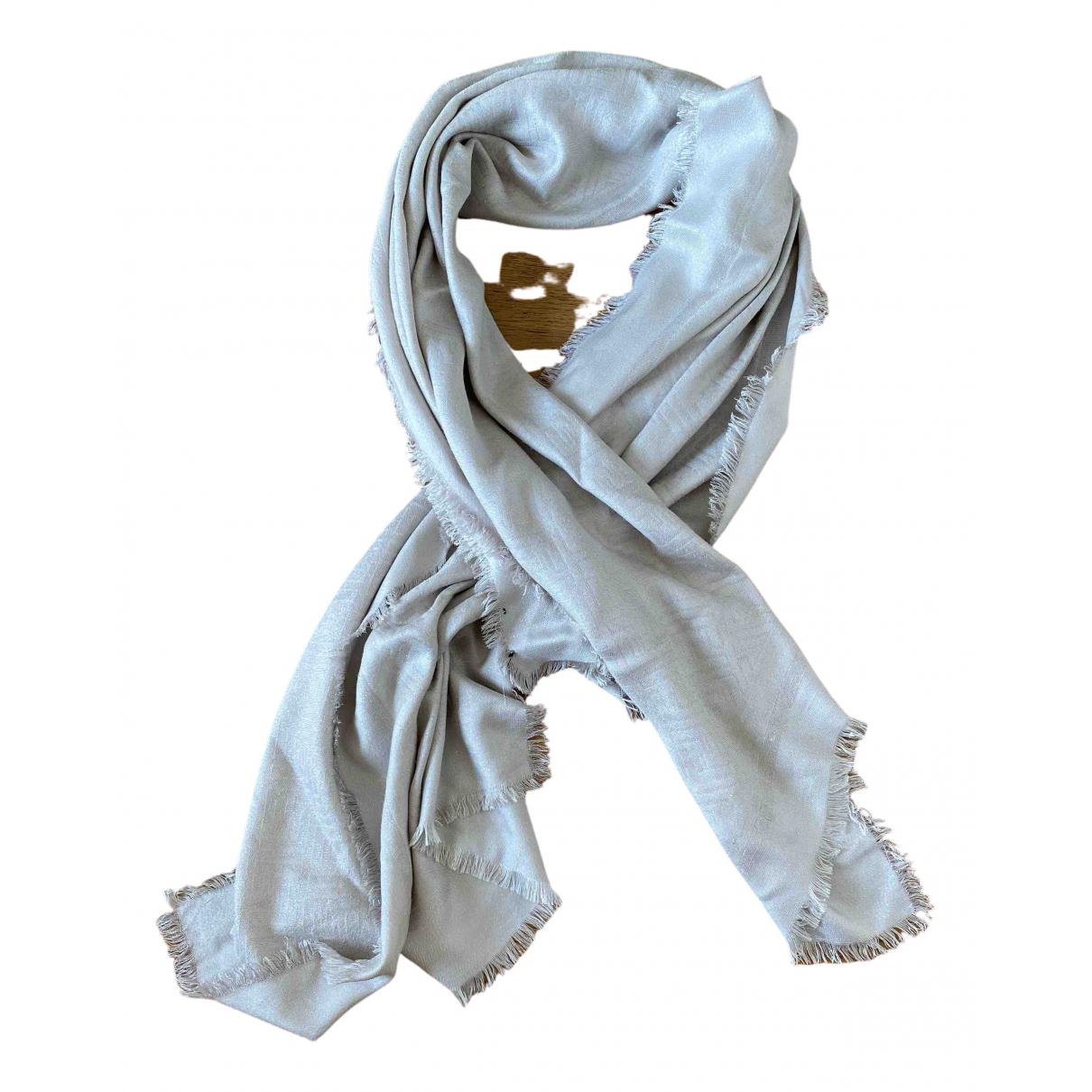 Fendi \N Grey Cotton scarf for Women \N