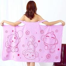 1pc Cartoon Monkey Print Bath Towel