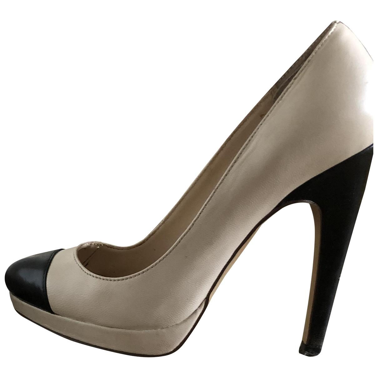 - Escarpins   pour femme en cuir - noir