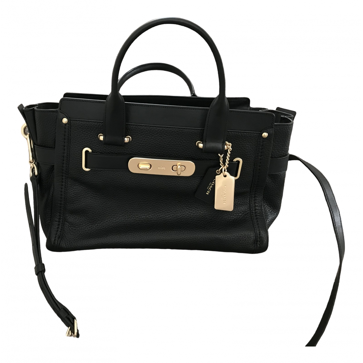 Coach \N Black Leather handbag for Women \N