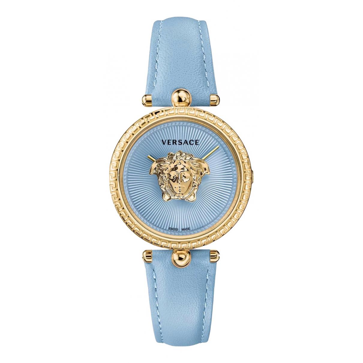 Versace - Montre   pour femme en autre - bleu