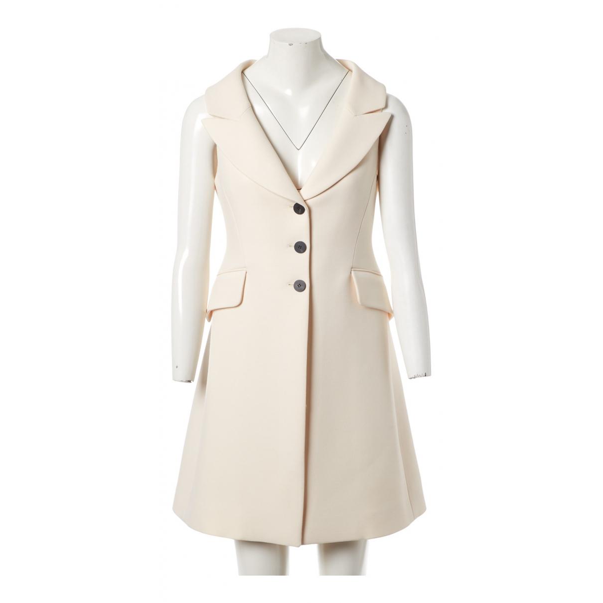 Dior \N Jacke in  Ecru Wolle