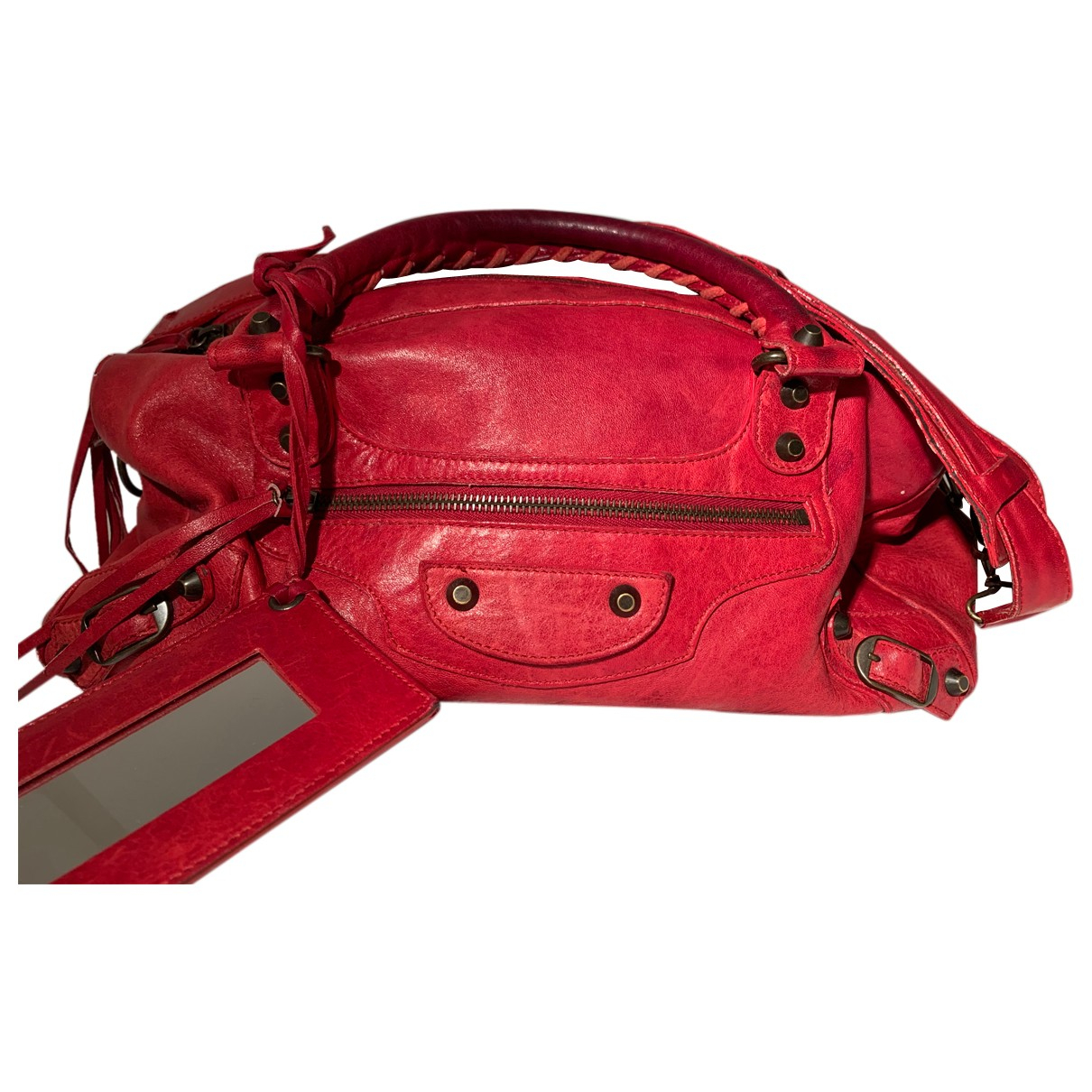 Balenciaga - Sac a main Twiggy pour femme en cuir - rouge