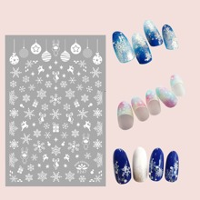 1sheet Christmas Snowflake Nail Art Sticker