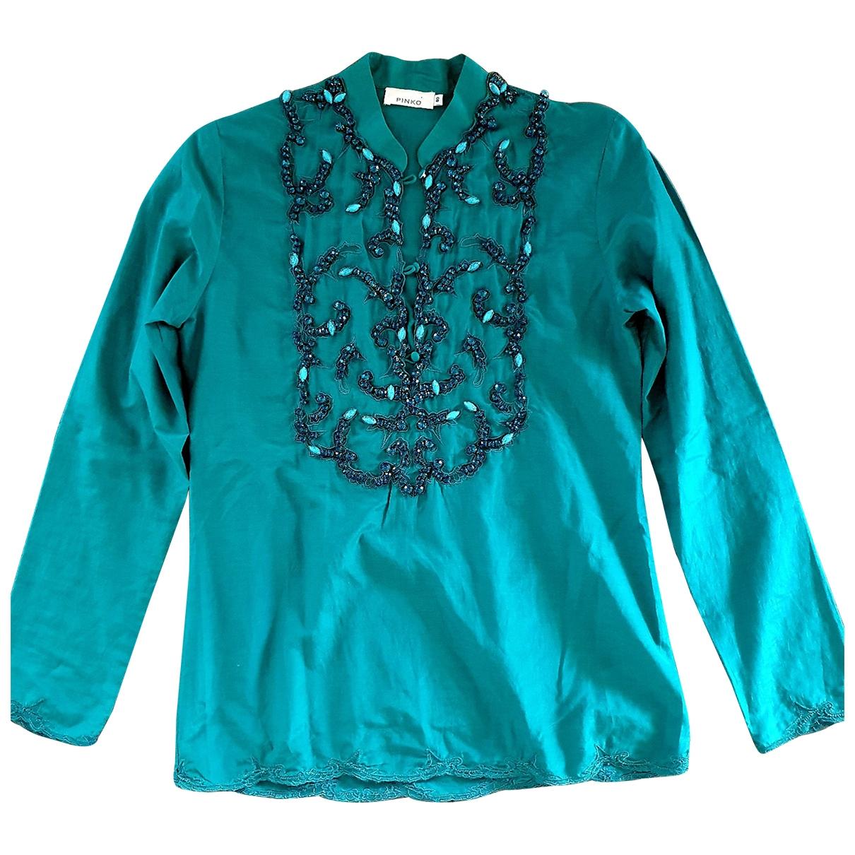 Pinko - Top   pour femme en coton - turquoise