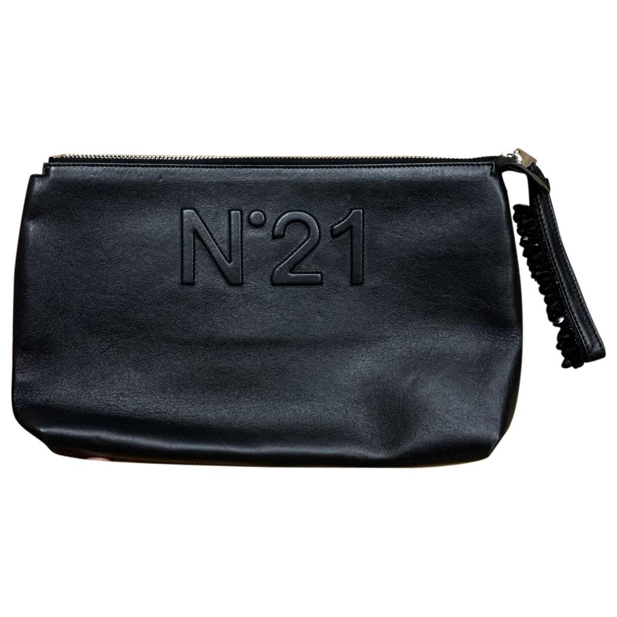 N°21 \N Clutch in  Schwarz Leder