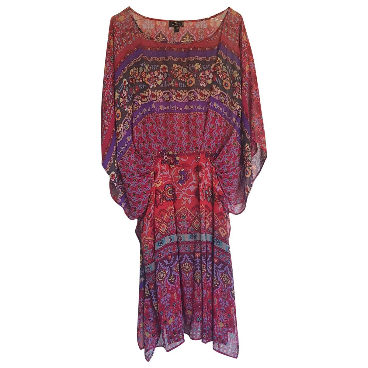 Etro - Robe   pour femme en soie - multicolore
