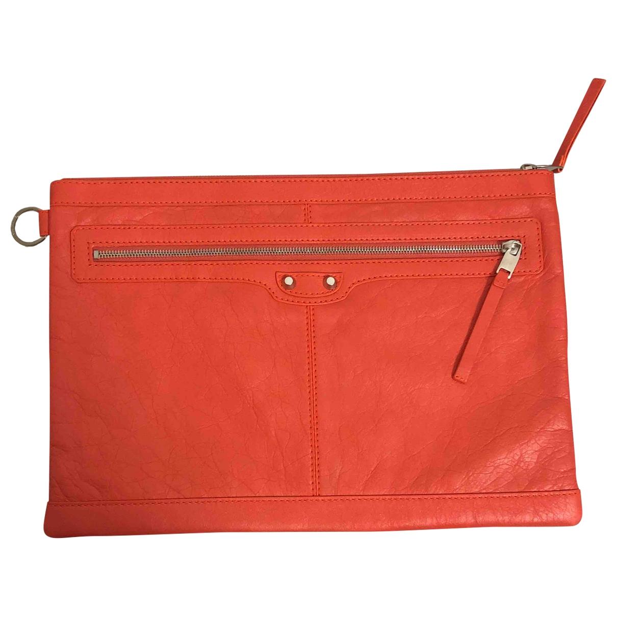 Balenciaga - Petite maroquinerie   pour homme en cuir - orange