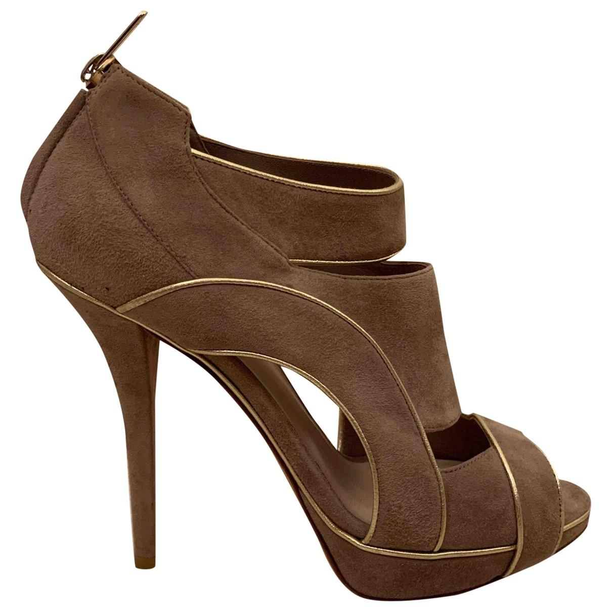 Dior \N Grey Suede Heels for Women 37 EU