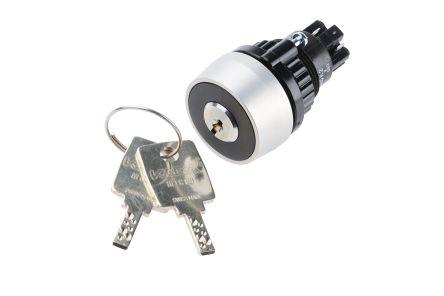 EAO IP65 Keylock Switch, 1NC + 1NO, 5 A @ 250 V ac 2-Way