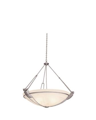 Grande 4847CI/PENSH 35 Pendant in Country Iron with Penshell Natural Bowl Glass