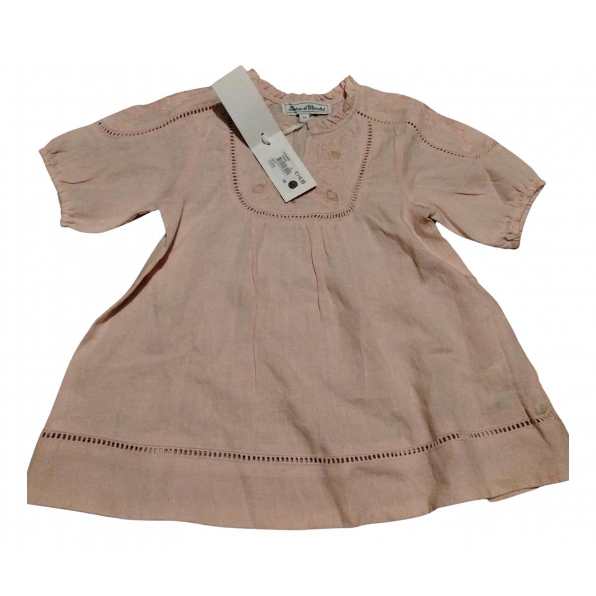 Vestido de Lino Tartine Et Chocolat