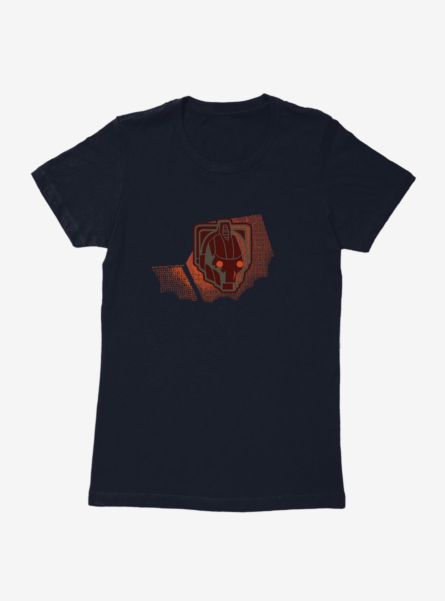 Doctor Who Cybermen Helmet Red Eyes Womens T-Shirt