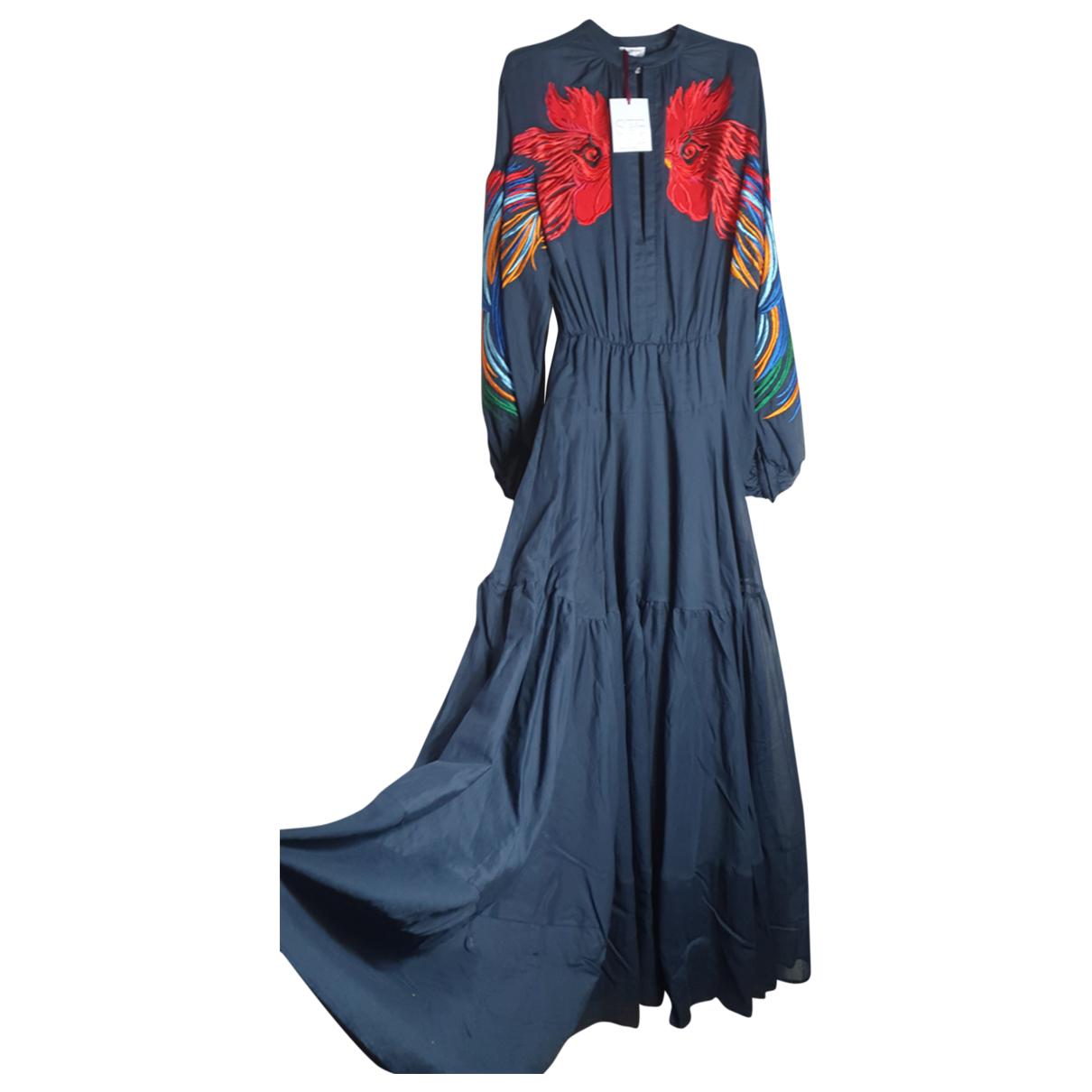 Stella Jean - Robe   pour femme en coton - bleu