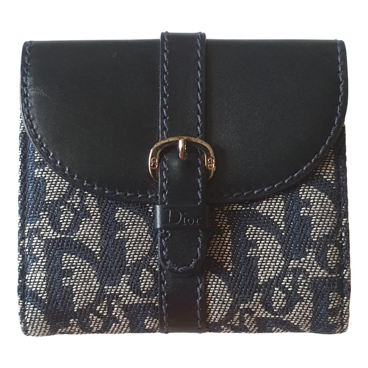 Dior \N Portemonnaie in  Blau Leinen
