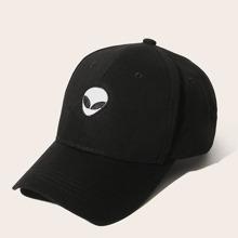 Maenner Baseball Hut mit Alien Stickereien