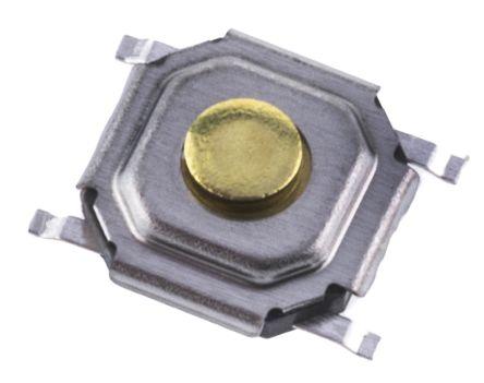 Alps Alpine Stem Tactile Switch, Single Pole Single Throw (SPST) 50 mA @ 12 V dc 1.5mm (10)