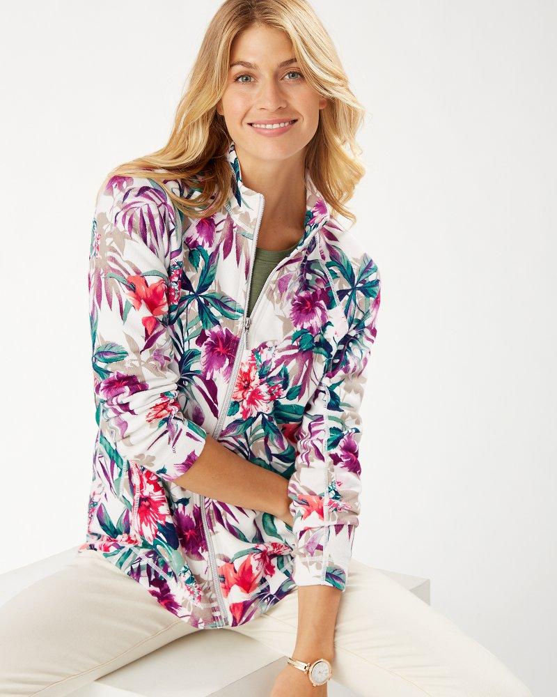 Hermosa Floral Aruba Full-Zip Sweatshirt