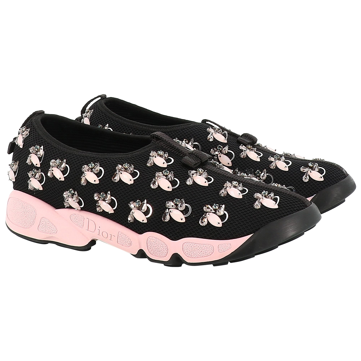 Dior - Baskets   pour femme en toile - noir