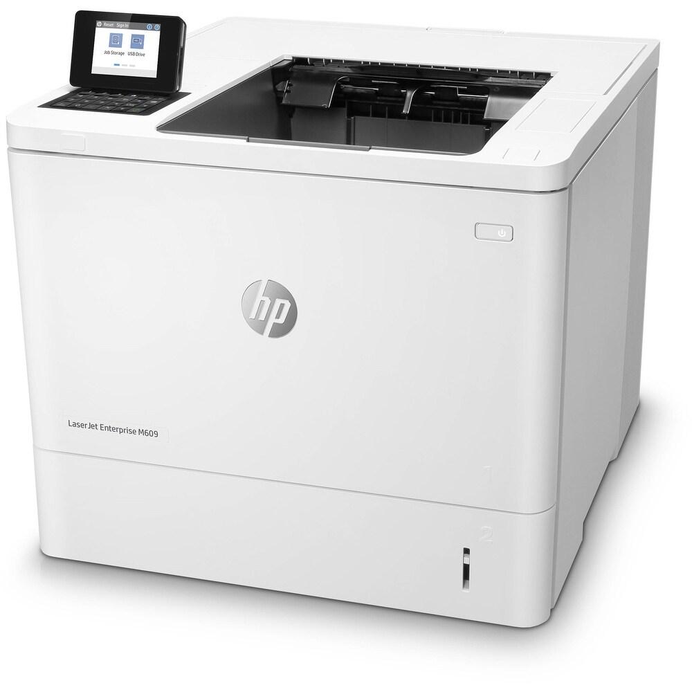 HP Laserjet Enterprise M609DN Monochrome Laser Printer, White (Certified Refurbished) (Laser)