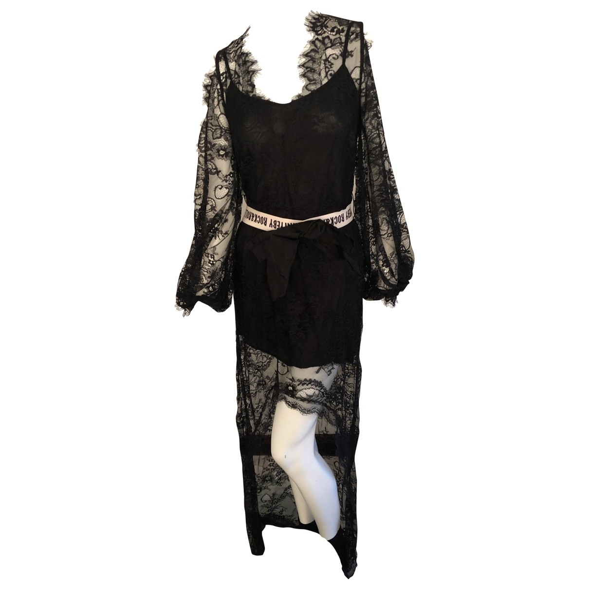 Aniye By \N Kleid in  Schwarz Polyester