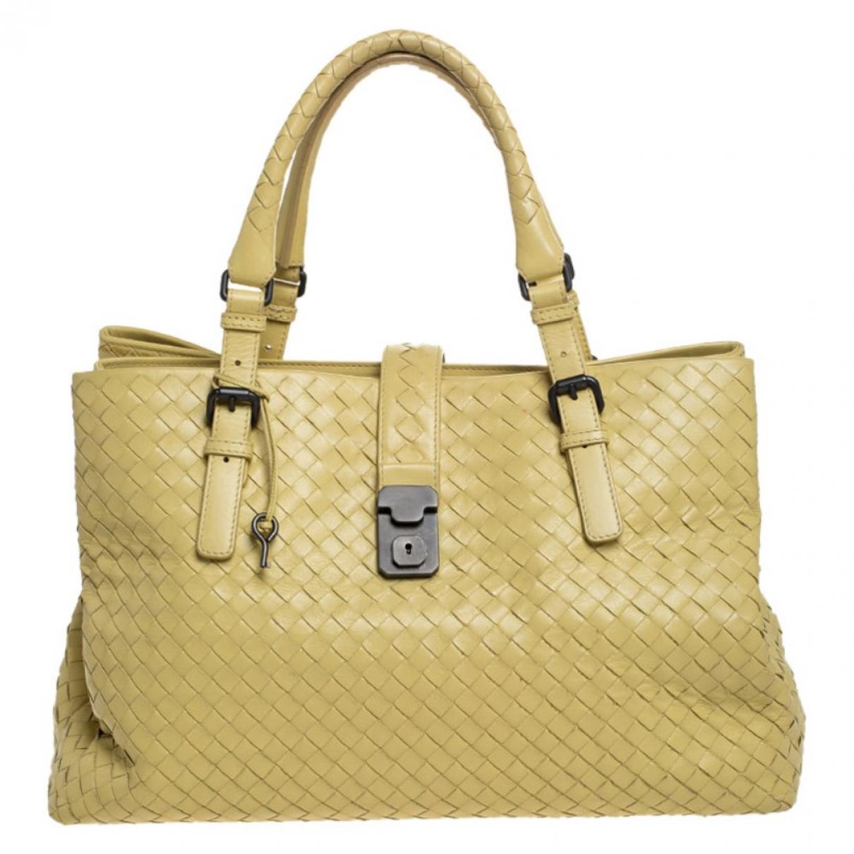 Bottega Veneta - Sac a main Roma pour femme en cuir - jaune