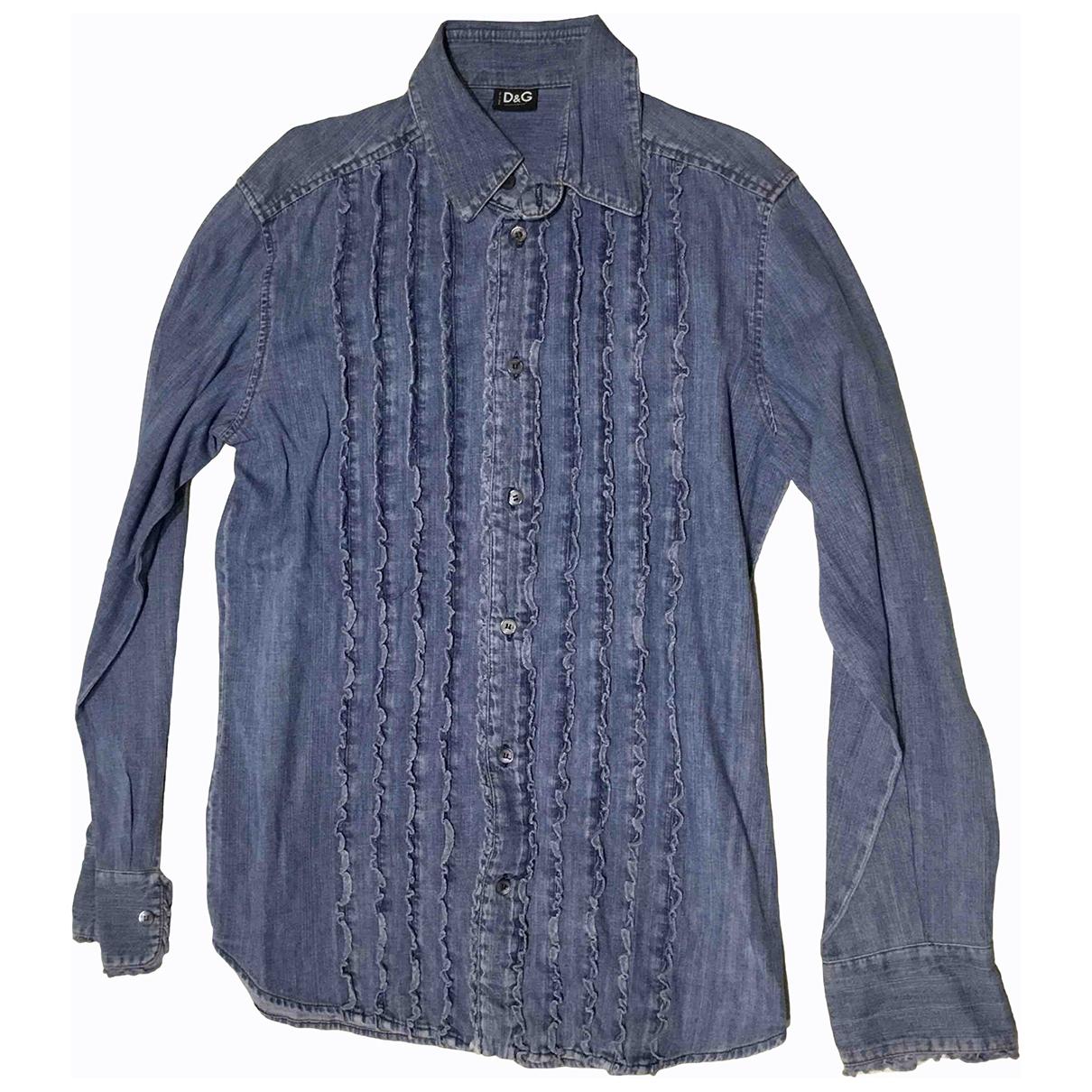 D&g - Chemises   pour homme en denim - bleu
