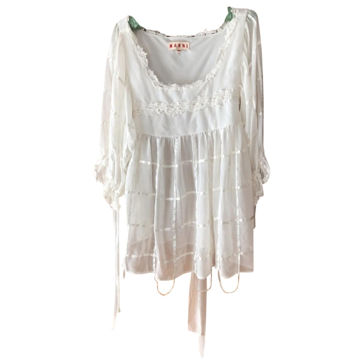 Marni - Top   pour femme en soie - blanc