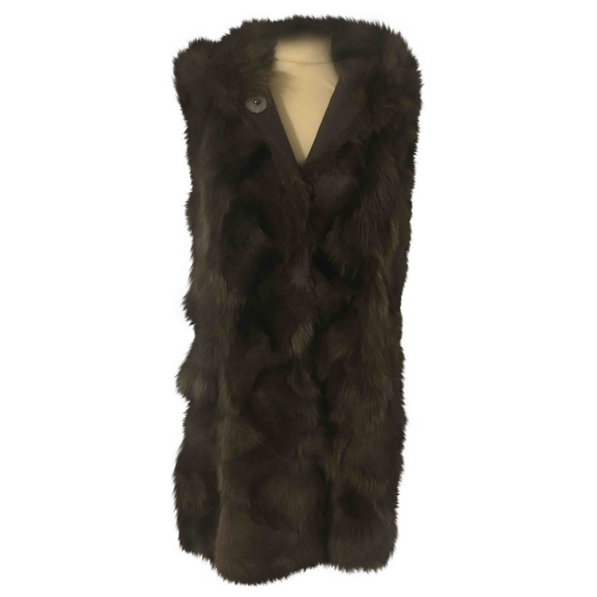 Thes & Thes \N Brown Fur coat for Women 42 IT