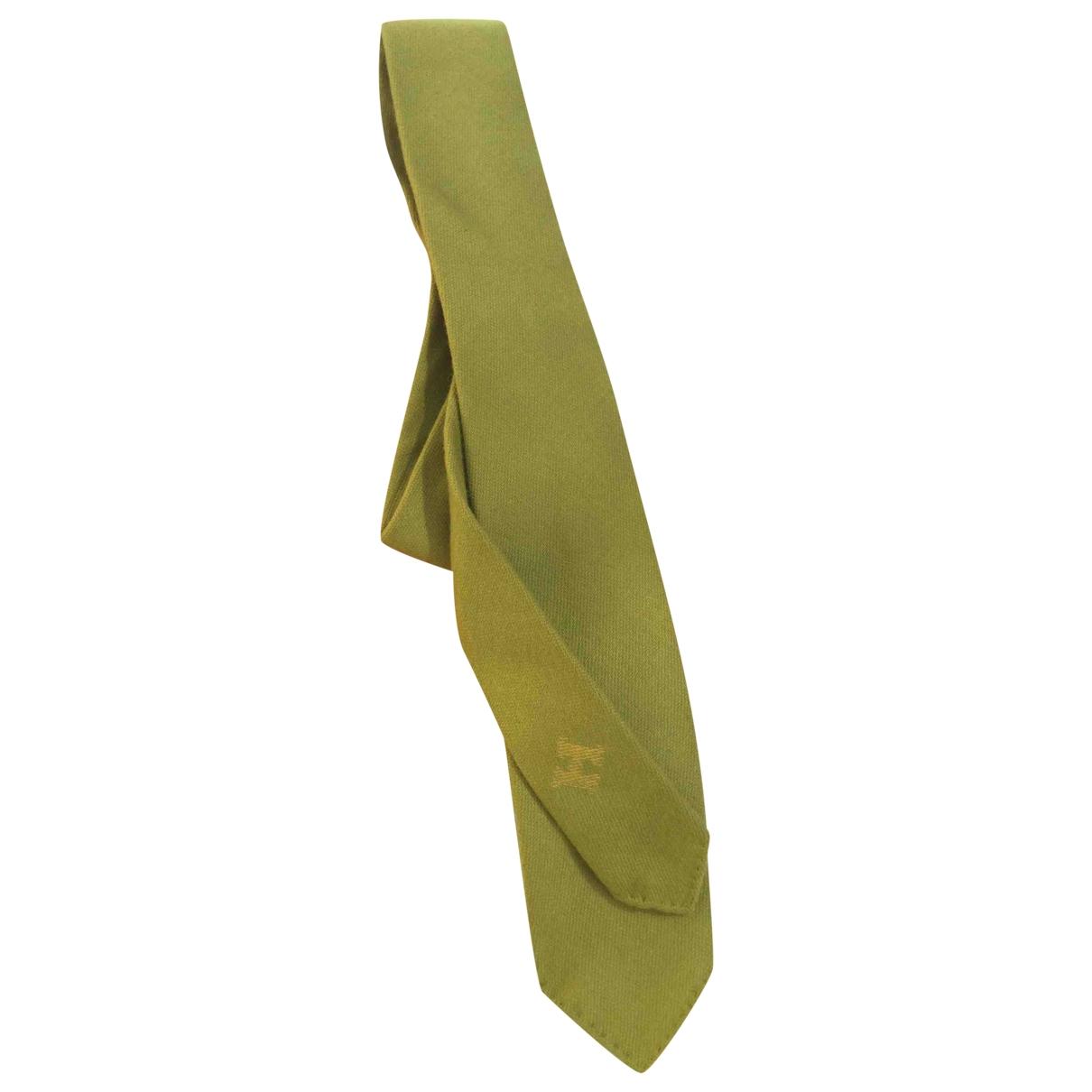 Hermès \N Green Cashmere Ties for Men \N