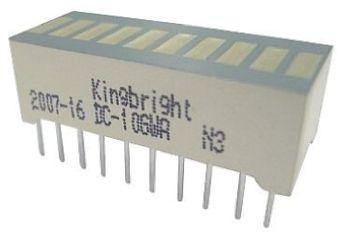 Kingbright DC-10SYKWA  Light Bar LED Display, Yellow 110000 mcd (2)