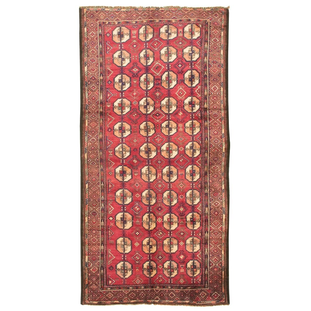 ECARPETGALLERY Hand-knotted Akhjah Red Wool Rug - 5'0 x 9'7 (Red - 5'0 x 9'7)