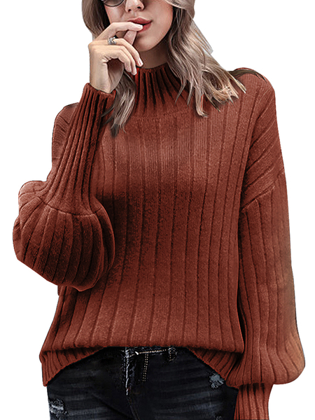 Yoins Long Sleeves High Neck Sweater