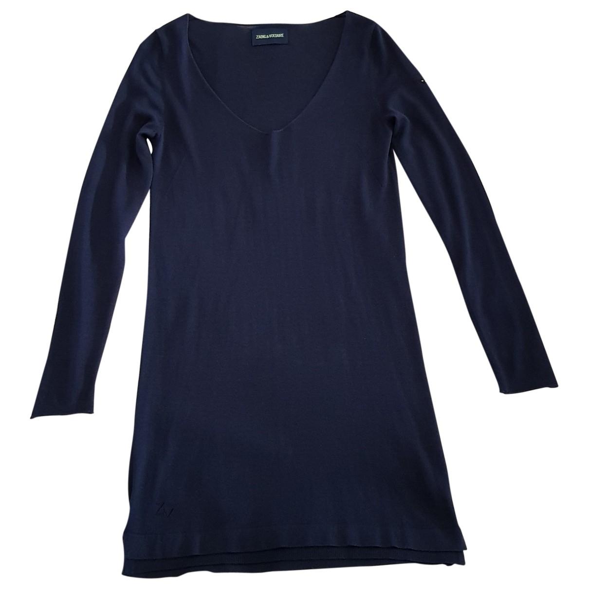 Zadig & Voltaire - Robe   pour femme en laine - marine