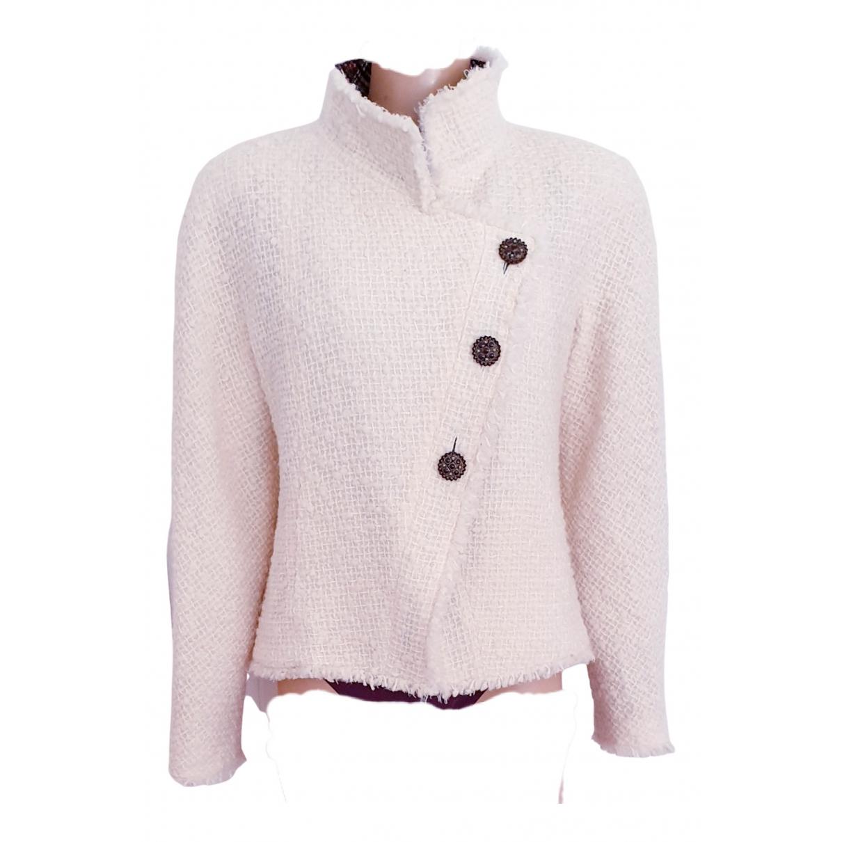 Chanel - Veste   pour femme en tweed - ecru
