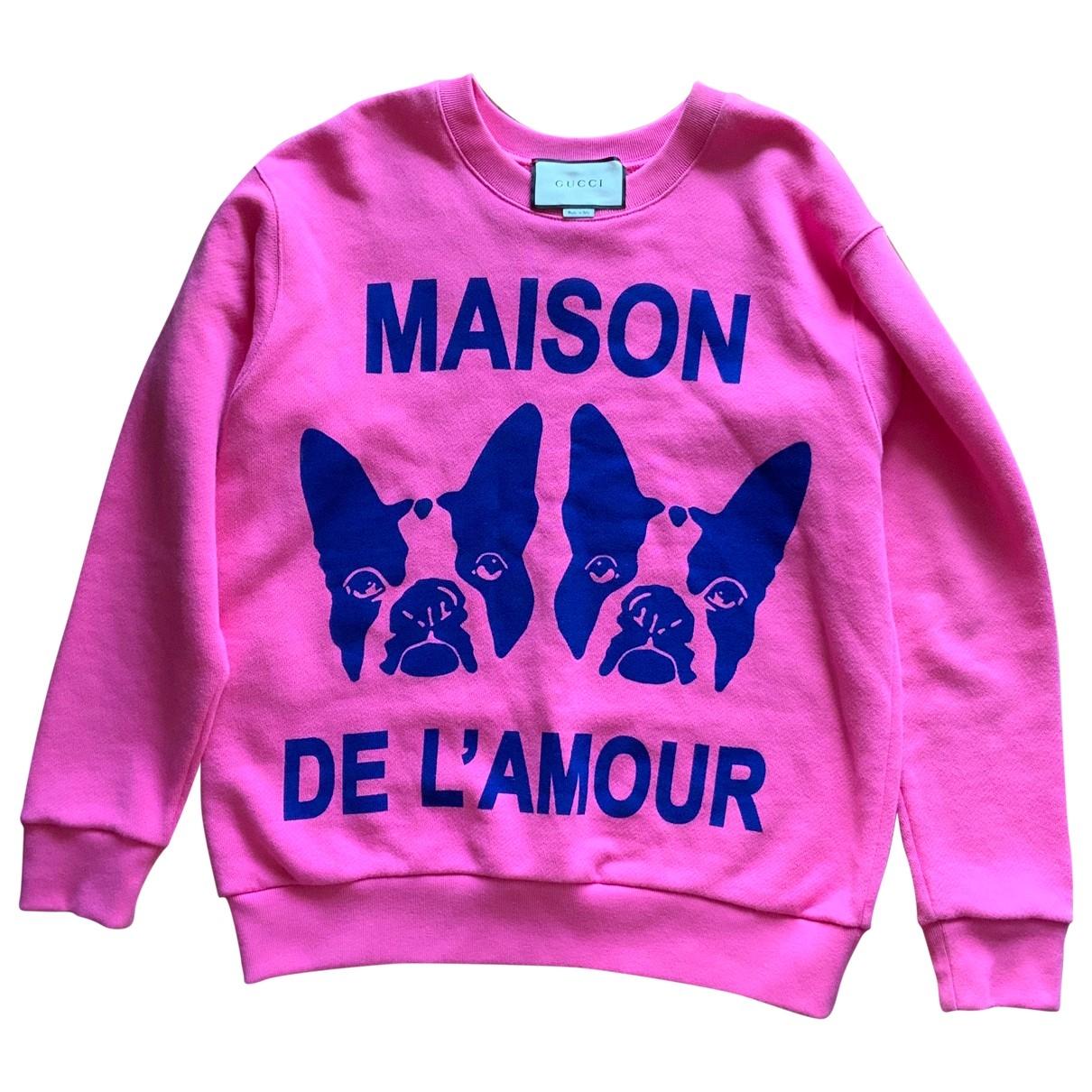 Gucci - Pull   pour femme en coton - rose