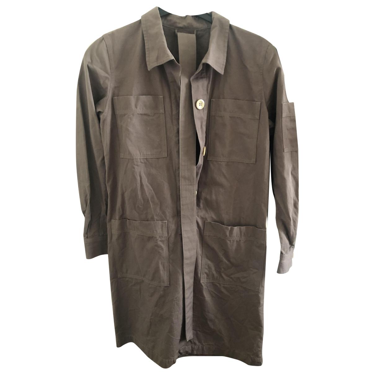 Apc - Robe   pour femme en coton - marron