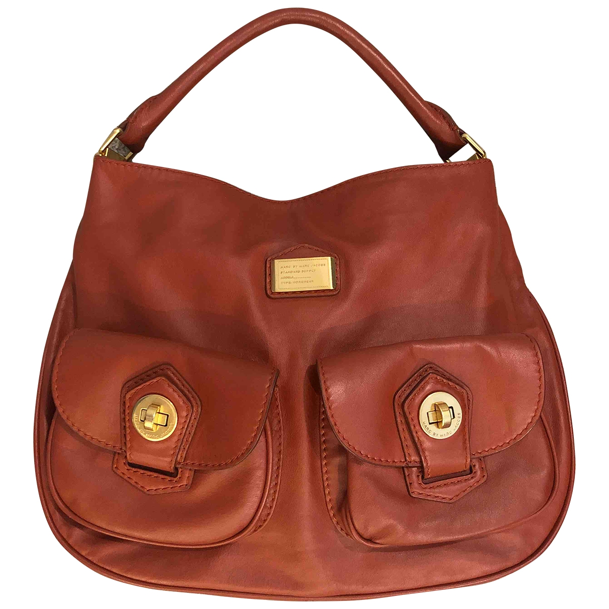 Marc By Marc Jacobs Too Hot to Handle Handtasche in  Orange Leder