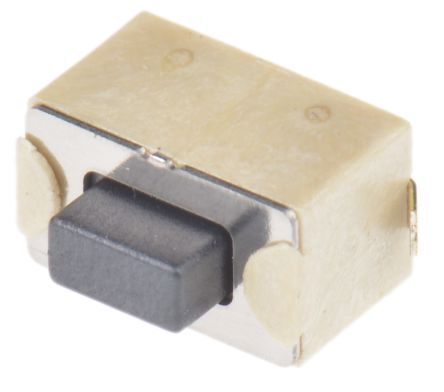 Wurth Elektronik Black Tactile Switch, Single Pole Single Throw (SPST) 50 mA @ 12 V dc 1.5mm Surface Mount