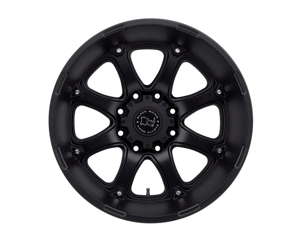 Black Rhino Glamis Matte Black Wheel 18x9 8x165.10|8x6.5 12mm CB122