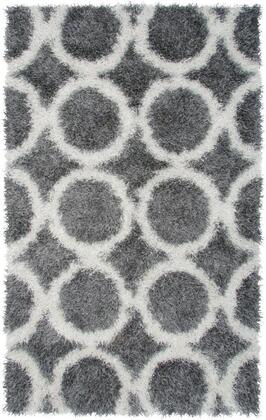 KNMKM244800330507 Kempton KM2448-5' x 7' Hand-Tufted 100% Polyester Rug in Gray  Rectangle