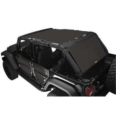 DirtyDog 4x4 Safari Sun Screen with Cargo Coverage, Black - D/DJ4SS07SCBK