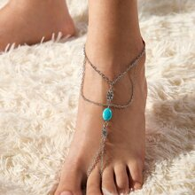 1pc Toe Ring Chain Anklet