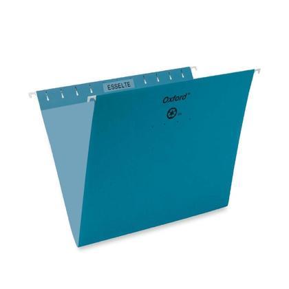 Pendaflex@ Essentials Esselte Oxford Colored Hanging File Folders - Teal ,Letter 486597