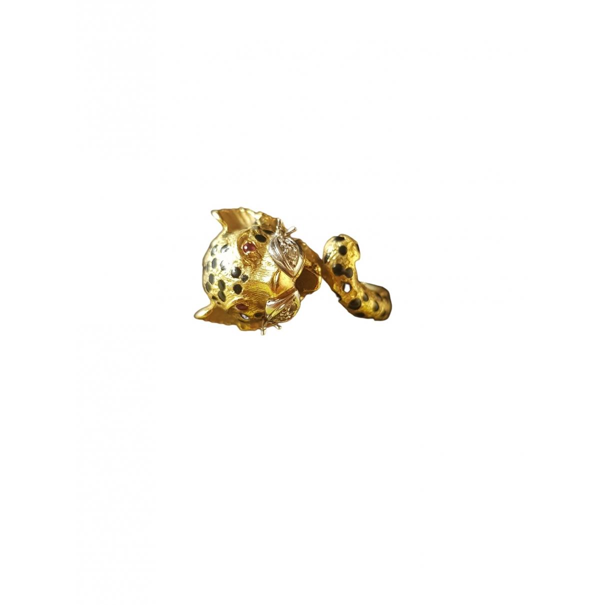 - Bague Motifs Animaliers pour femme en or jaune - jaune